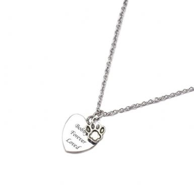 Pet Loss Sympathy Gift, Engraved Necklace | Someone Remembered